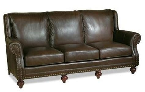 new leather sofa crafted usa high back nailhead