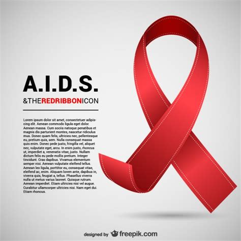 aids awareness color aids ribbon vector free