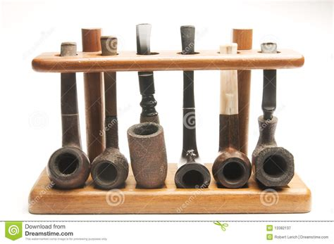 tobacco pipe rack plans pipe collection in wood pipe rack royalty free stock photography image 13382137