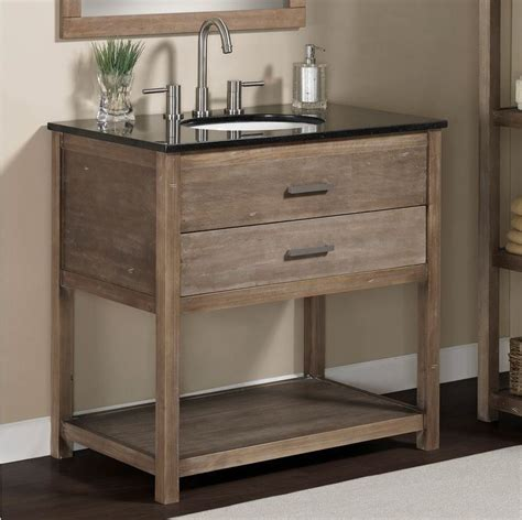 Rustic Modern Bathroom Vanities by Modern Rustic Granite Top Bathroom Sink Vanity Wood 1
