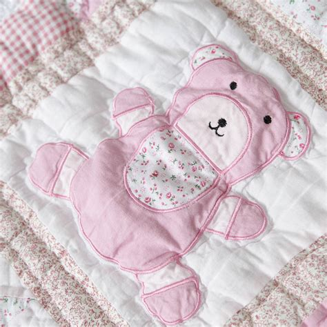 Personalised Patchwork Quilt Baby - personalised patchwork baby quilt by my 1st years