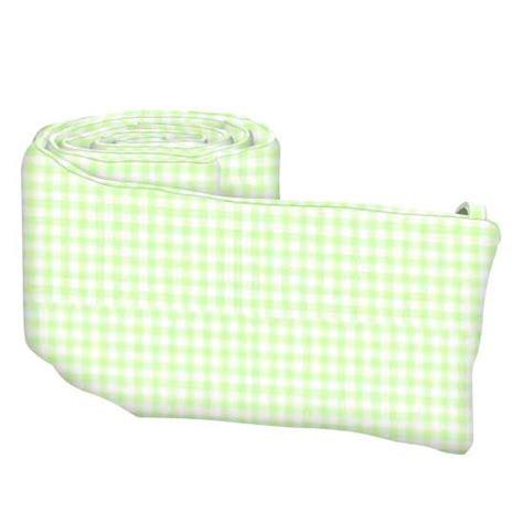 Gingham Crib Bumper by Green Gingham Crib Toddler Sheets Sheetworld