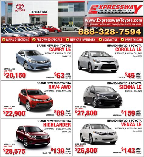 Toyota Lease Specials Best 2014 Toyota Truck Lease Deals Autos Post