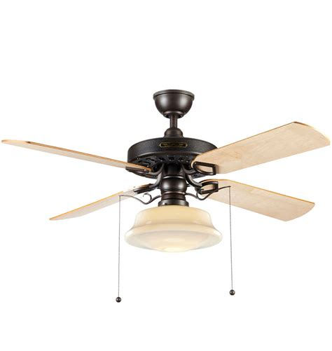 heron ceiling fan with light kit aged bronze maple blades