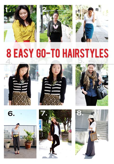 easy on the go hairstyles easy hairstyles