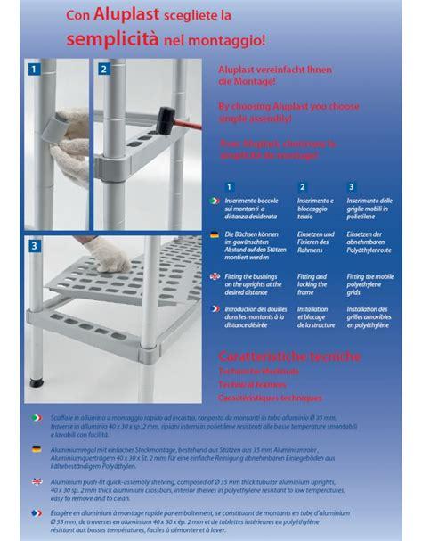 scaffale magazzino scaffale per cella frigorifera o magazzino cm 130x50x200h