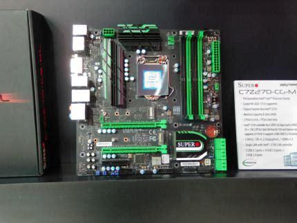 Supermicro Mainboard C7z270 Cg L cebit 2017 neue k 252 hler netzteile mainboards und