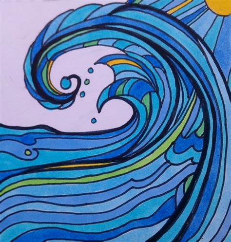 Drawing Waves by Images For Gt Crashing Waves Sketch Education