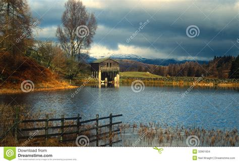 boat house lake district boat house on lake stock images image 32961604