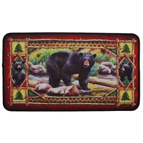 rivers edge products if you rivers edge products 18 quot x30 quot door mat bear 1863