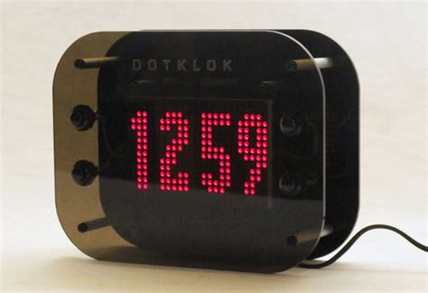cool digital clock dotklok the open source arduino digital clock