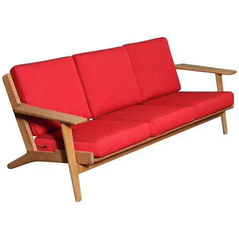 hans wegner sofa hans wegner ge 290 3 paddle arm sofa for sale at 1stdibs