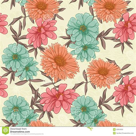 a seamless repeating retro floral floral repeating background stock photo image 22654930