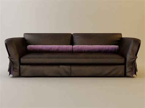 3d couch model leather brown sofa 3d model max obj 3ds fbx cgtrader com
