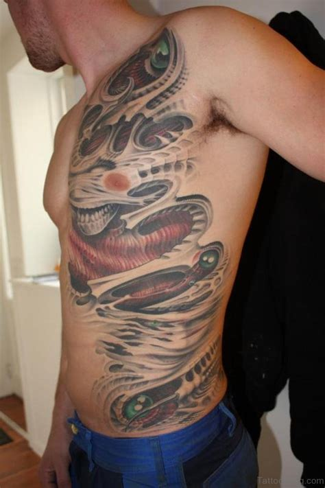 biomechanical zombie tattoo 50 rare biomechanical tattoos for rib