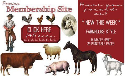 Farmhouse Style Images Kit! Graphics Fairy Premium   The