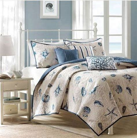 beach style bedding king quilts seashells and beach houses on pinterest