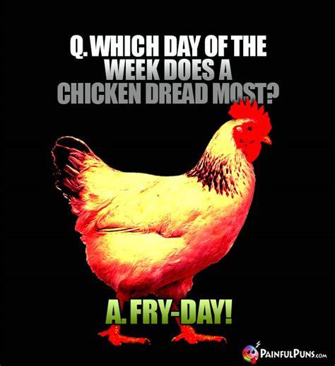 chicken jokes hen humor poultry puns painfulpunscom