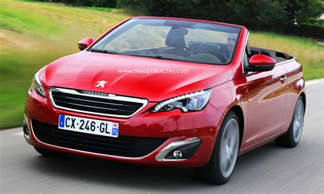 peugeot convertible peugeot 308 cabriolet rendered autoevolution
