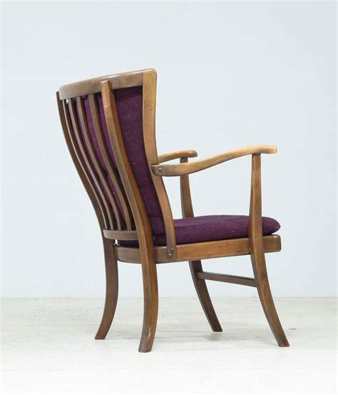 elegant armchair elegant danish wingback armchair with warm deep purple