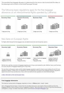 image gallery lufthansa baggage allowance