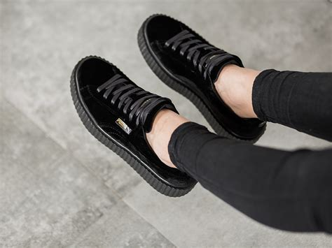creeper rihanna black s shoes sneakers creeper velvet x rihanna