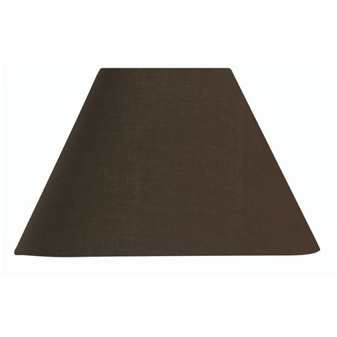 Chocolate Cotton Coolie L Shade 12 Inch S501 12co