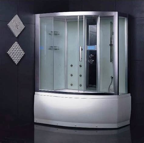 bathtub shower combo units wasauna sassari steam shower room tub combination unit