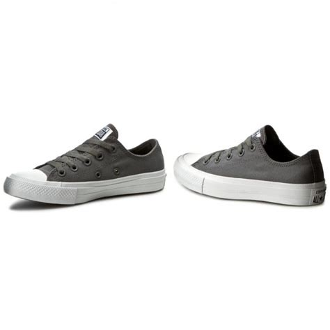 Converse Ct As Ii Ox Thunder Grey Original sneakers converse ct ii ox 150153c thunder white navy