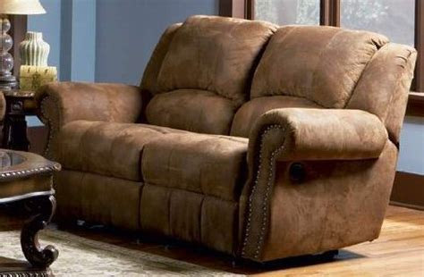 Reclining Leather Sofas And Loveseats 2pc Recliner Sofa Set Nail Head Trim Distressed Brown