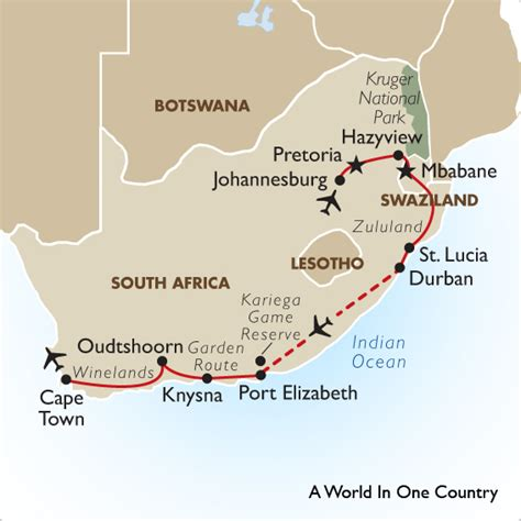 garden route itinerary ideas south africa safari package world in one country goway