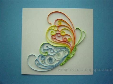 tutorial quilling butterfly wesens art quilling schmetterling quilling butterfly