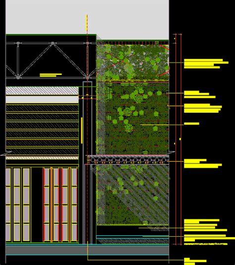 green facade detail  autocad cad   kb