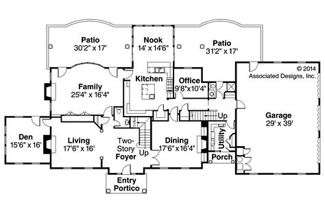 european home floor plans edgewood 30 313 estate home plans associated designs