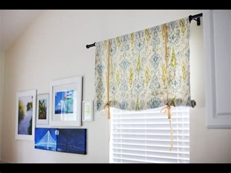 how to make a tie up curtain tie up curtains easy to make tie up curtains youtube