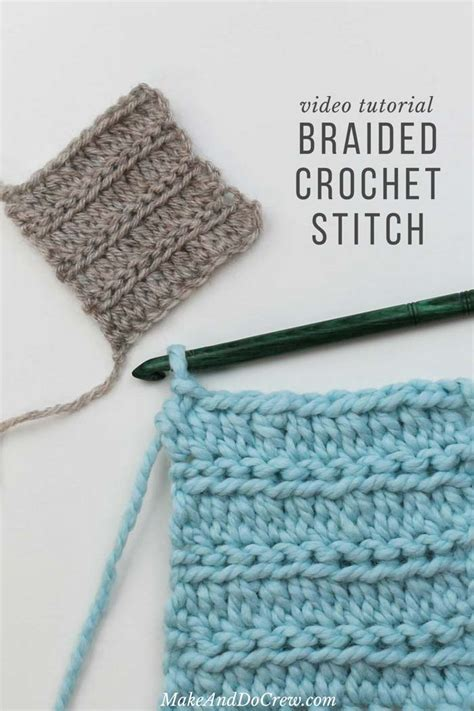 crochet stitch that looks like knit a quot braided quot crochet stitch that looks like knitting easy