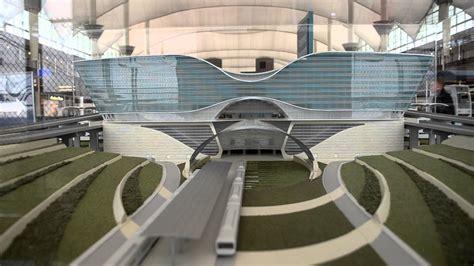 new light rail at denver international airport terminal