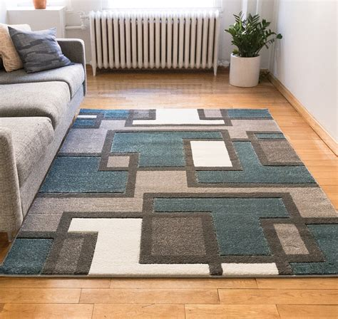 blue and brown area rugs contemporary area rugs blue and brown
