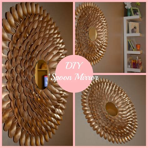 mirror decorations diy spoon mirror wall decor