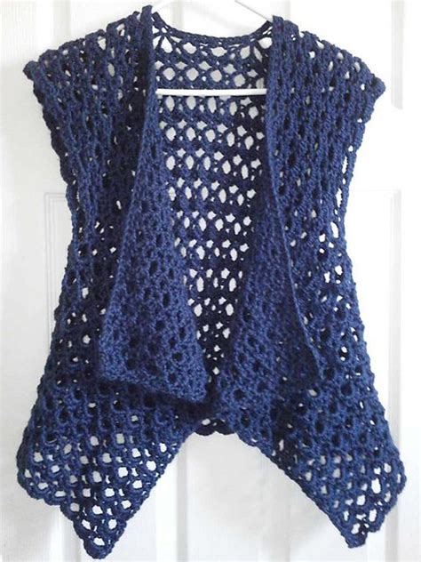 free pattern vest crochet ravelry mesh vest pattern by doris chan for lion brand