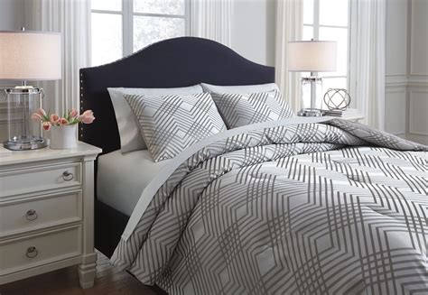anjelita pewter queen comforter set q385003q ashley