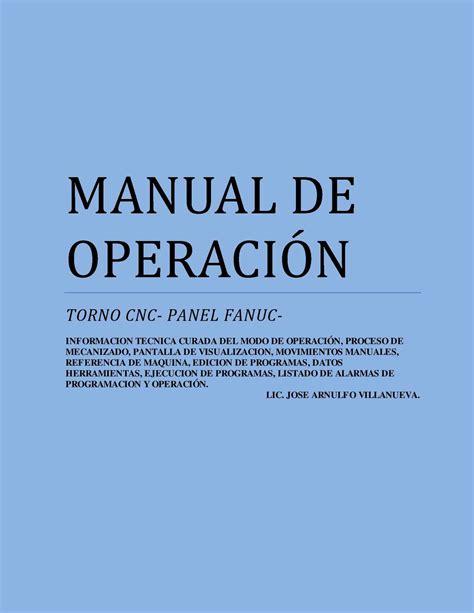 manual del panel de control de alarma contra incendios calam 233 o manual operaci 243 n panel fanuc para torno cnc