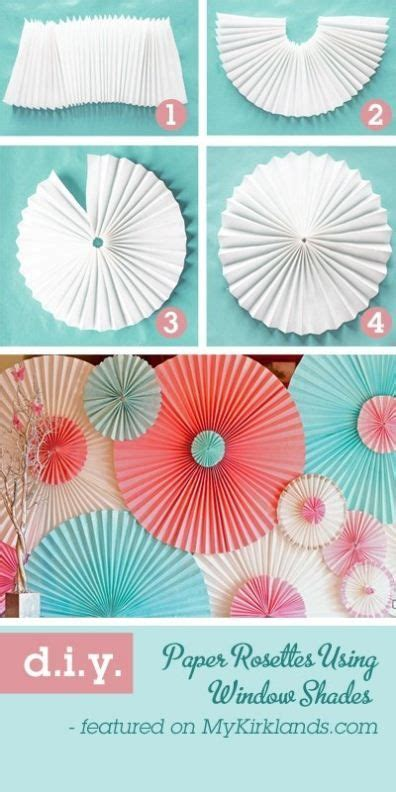 easy party decorations to make at home paper rosettes apartment living room ideas pinterest