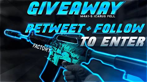Hellcase Snapchat Giveaway - csgoexclusive ozzny m4a1 s icarus fell giveaway linkis com