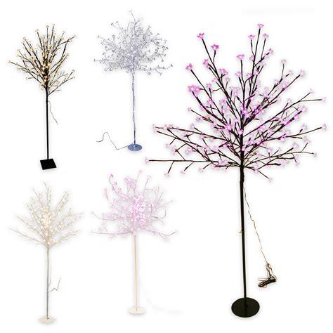 o bianco fiore albero condotto albero luminoso 200 led 150cm radice