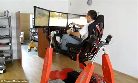 Racing Simulator Chair Hydraulic Elsaco S Racing Simulator Lets You Drive Car With