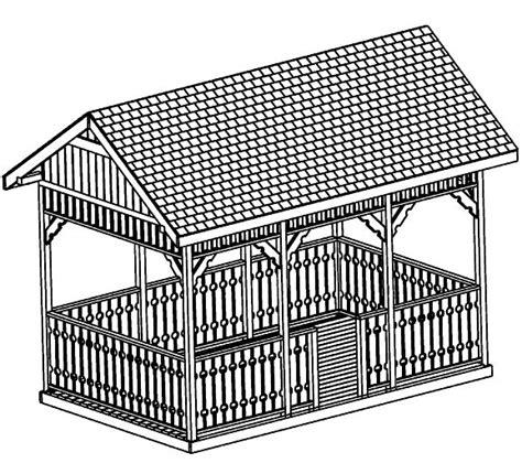 Square Hip Roof Beginner Design Gazebo Plans 12ft Square Gazebo Hip Roof