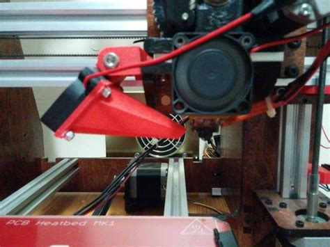 3d printer cooling fan 3d printed makerfarm prusa i3v cooling fan by bigbadbison
