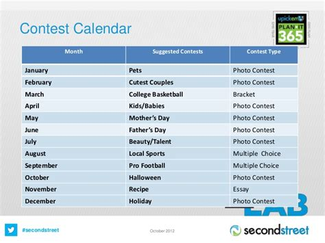 Contest Calendar How To Plan Your Revenue Generating Contest Calendar