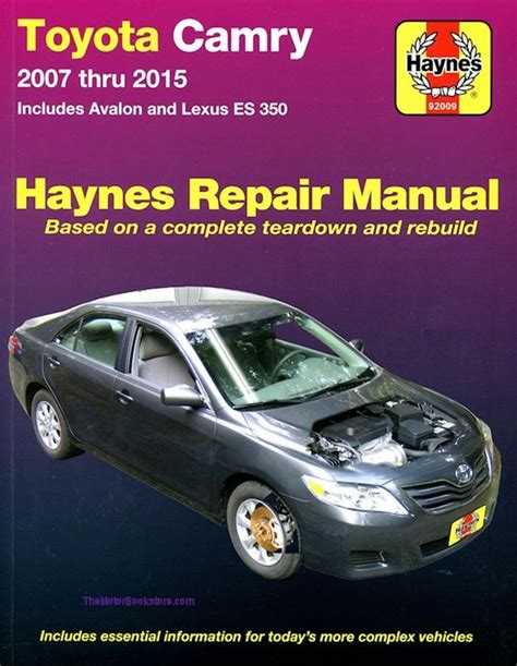 buy car manuals 2007 toyota solara regenerative braking toyota camry avalon lexus es350 repair manual 2007 2015 haynes